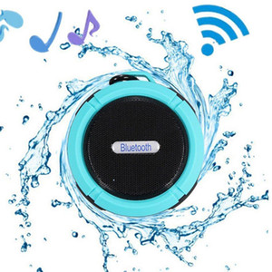 Wholesale Portable Waterproof Outdoor Wireless Bluetooth Speaker C6 Sucting Computer Mobile Phone Speaker with Long life battery Support TF Card