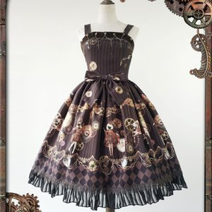 Wholesale Women s Steampunk Dress Mechanical Doll Series Printed Lolita JSK Dress by Infanta Pre order