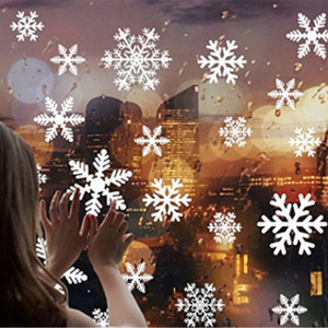 Wholesale Christmas Snowflake Stickers Electrostatic Sticker Glass Sticker Wall Paper Christmas Stickers DIY Window Sticker Christmas Home Decor 27pcs
