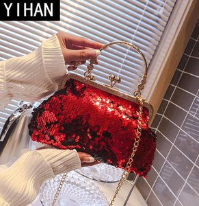 Wholesale Factorys own brand women bag handmade sequins ladys banquet chain bag fashion party dress dinner shell package wedding dress handbag