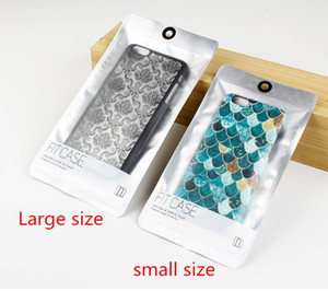 Universal Clear White Pearl Plastic Poly Bags OPP Packing Zipper Lock Package Accessories PVC Retail Boxes for iPhone Samsung Phone case