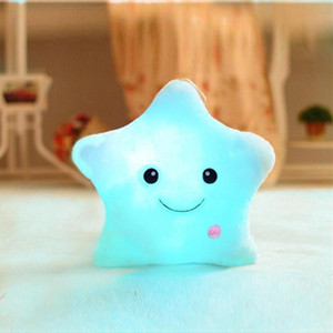 Creative Toy LED Luminous Pillow Soft Stuffed Plush Glowing Colorful Stars Cushion Led Light Toys Gift For Kids Children Girls on Sale