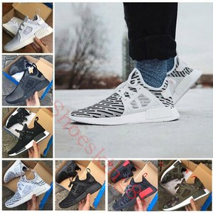 Wholesale 2017 NMD XR1 Running Shoes Mastermind Japan Skull Fall Olive green Camo Glitch Black White Blue zebra Pack men women sports shoes