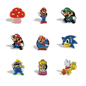 Free Shipping Super Mario Fridge Magnets Lovely Character Cartoon PVC Home Decoration Refrigerator Magnets Blackboard Stickers Kids Gifts