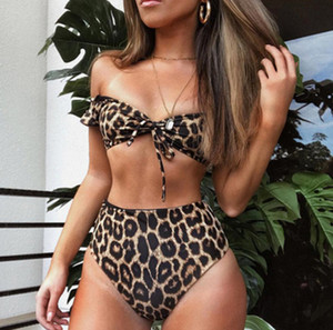 Wholesale Sexy Women Bikini Swimwear Leopard print swimsuit Bikini Set Padded Bathing Suit Swimwear Beach Wear Brazilian Biquini
