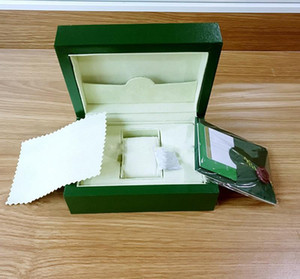 Free Shipping New Style Green Watch Papers Gift Watches Boxes Leather bag Card140mm*85mm 0.8KG For men Watch Box.