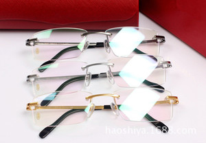 Wholesale New Famous Brand Glasses Frame High Quality Pure Titanium Eyeglasses Frame Man s Business Rimless Glasses Frame
