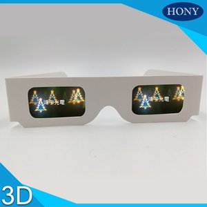 Wholesale 5pcs Christmas Tree Snowman Snowflake Santa Diffraction Fireworks D Glasses Paper for Music Festivals Holidays Christmas Lights