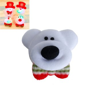 Wholesale Fabric Pin Brooches LED Light Flashing Bear Animal White Red Romantic Accessories mm x mm quot Piece