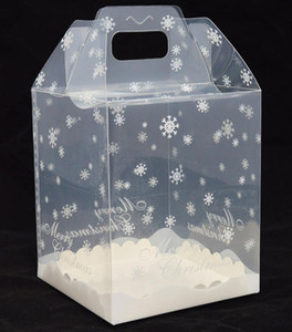 Wholesale 100pcs x15x18cm Chocolate House Transparent Package Box Cake Box Gingerbread House Boxes PP Food Container