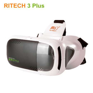 Wholesale NEW RITECH III Virtual Reality D Video Glasses RIEM Plus VR Helmet Box for D Movie Games Compatible quot Moblie Phone