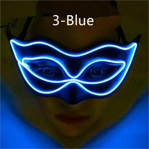 Wholesale Glow mask princess sexy half face Halloween party fox beauty flash costume costume party