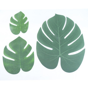 Wholesale tropical supplies for sale - Group buy Tropical Palm leaves Artificial palm Leaves Monstera Leaf Tropical Simulation Leaf Home Party Decoration Supplies S M L