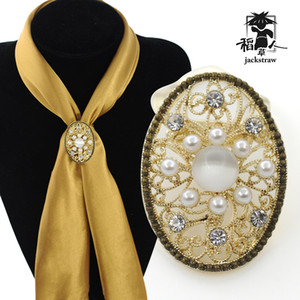 Wholesale The scarecrow in the new large size silk scarf button of luxury and aesthetic scarf manufacturers direct sales