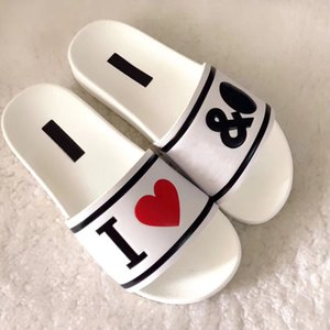 Wholesale Fashion Slide sandals causal Non slip summer huaraches slippers flip flops slipper Women Classical Fenty White Black Letter slippers Women s