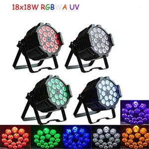 Wholesale Free shipping Top selling High quality 18X18W Stage Lighting RGBAW UV 6in1 LED Par 64 LED Par64 Light 18LED spotlight