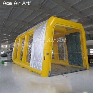 Wholesale Big yellow inflatable car spray booth mobile Inflatable Spray Booth For Car Painting