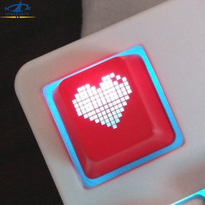 Wholesale HFSECURITY OEM Backlight Mechanical Keyboard Key Cap ABS Cute Heart Keycaps for ESC F1 to F12 Number key