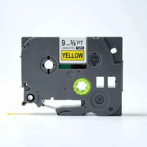 Wholesale Hot Sale mm Black on Yellow Compatible Brother TZ TZe Ink Ribbon Cassette for Brother Label Printers