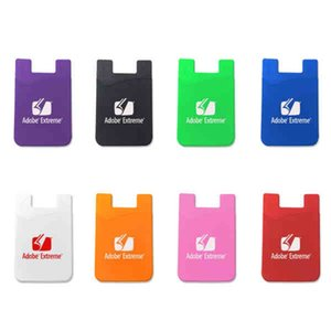Mobile Phone Silicone Card Sleeve With Back Glue Originality Color Practical Phones Gadgets New Arrival 1 2hx Ww