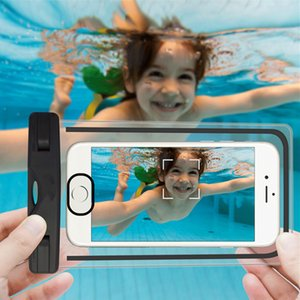 Wholesale Waterproof Case Universal For iphone s plus samsung S9 S7 Cell Phone Water proof Dry Bag for smart phone up to inch diagonal Retail