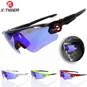 Wholesale X TIGER Polarized Cycling Glasses UV400 Cycling Sport SunGlasses Mountain Bike Goggles Racing Road MTB Bicycle Eyewear For Man