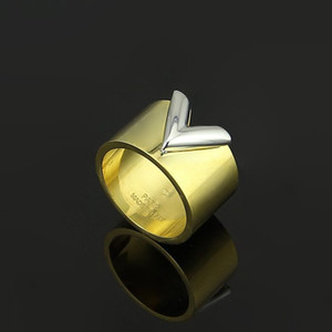 Wholesale New fashion jewerly famous brand stainless Steel K gold plated sliver love Ring For Women man wedding Rings Rose Gold plated jewelry