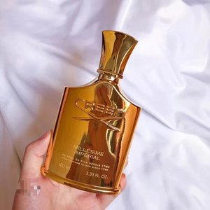 Wholesale TOP Quality New Creed Imperial Millesime Gold Bottle Creed Aventus perfume for men and women Body Spray with long lasting time good smell
