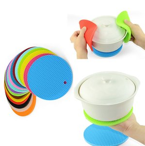 Wholesale 19 Color Table Silicone Pad Silicone Non slip Heat Resistant Mat Coaster Cushion Placemat Pot Holder Kitchen Accessories Cooking Utensils B
