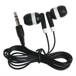 Wholesale 300pc Disposable earphones headphones low cost earbuds for Theatre Museum School library hotel hospital Gift