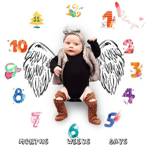 Newborns Baby Blanket Background Wing Printed Blanket Rug Baby Blanket Babies Photo Props Fabrics Accessories Photography Props 14 Designs