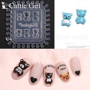 Wholesale 1pc Bread D Acrylic Mold Nail Art Decorations Decorated Nails DIY Design Silicone Heart Nail Art Templates Nails Portrait Mould