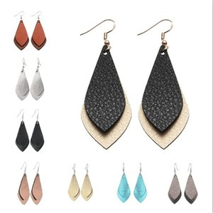 Leather Earrings for Women Bohemian Personalized handmade Teardrop earring womens Dangle earing ear ring Fashion Jewelry Jewellery NEW