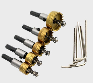 Wholesale hss drill bits sets for sale - Group buy 5pcs Carbide Tip HSS Drills Bit Hole Saw Set Stainless Steel Metal Alloy mm