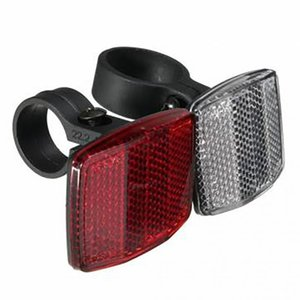 Wholesale reflector lights resale online - Bicycle Front Rear Reflectors Road Mountain Bikes Safety Automatic Reflectors Rear Light seatpost handlebar