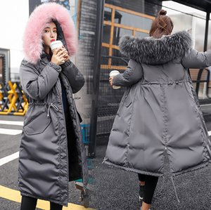 Wholesale Winter Holiday Parkas Fur Hood Warm Puffy Baggy Parka Coat Cotton Windbreaker Jacket Fashion Outerwear Streetwear Drawstring Women s Parka