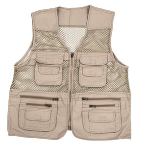 Wholesale mens utility multi pockets hunting fishing shooting hiking vest waistcoat