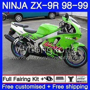 Body For KAWASAKI NINJA ZX900 ZX9 R ZX 900 ZX-9R 98 99 00 220HM.3 900CC ZX 9 R ZX9R 98 99 ZX 9R 1998 1999 2000 TOP Factory green Fairing kit