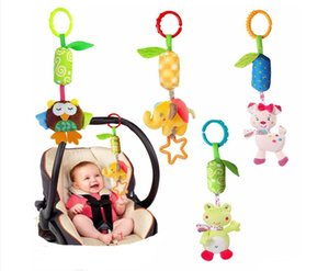 Wholesale baby toys Animal bed bell bed trailer hanging neonatal car hanging plush fabric Rattle Bell baby gift OEM