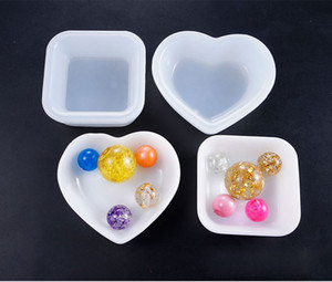 Wholesale Heart Square Plate Silicone Mold Dish Mould For Jewelry Resin Handmade DIY Epoxy Resin Molds Mini Beads Container