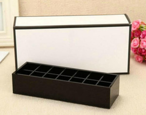 2018 Fashion brand classic high-grade acrylic toiletry 14 grid storage box   cosmetic accessories storage with gift packing