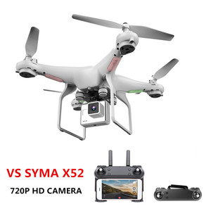 Upgrate New Drone With Camera 720P HD 0.3W White Hover Helikopter VS SYMA X52 Dron RC Drone Full hd Camera Drone Professional free shipping