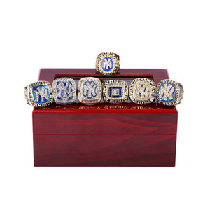 Wholesale DROP SHIPPING ALLOY RING p c s NEW YORK YANKEE CHAMPIONSHIP RING FOR MAN WITH BOX SIZE