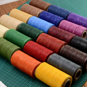 Wholesale Hot Sale M D Flat Sew Wax Line Handmade DIY For Leather MM Flat Waxed Sewing Nylon Thread Wax Nylon Thread Machine