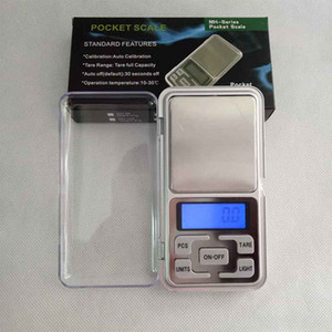 Mini Electronic Digital Scale Diamond Jewelry weigh Scale Balance Pocket Gram LCD Display Scales With Retail Box 500g 0.1g 200g 0.01g
