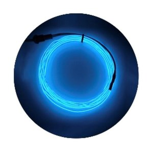 5M Neon Light Dance Party Car Bike Styling Decor Strip Light LED Lamp Flexible EL Wire Waterproof Tube Shoes Cloth Decor XLBO0205