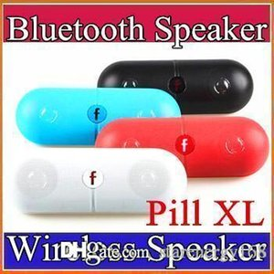 Wholesale Pill XL Bluetooth Mini Speaker Protable Wireless Stereo Music Sound Box Audio Super Bass TF Slot Hands free MP3 Player With b f LOGO E YX