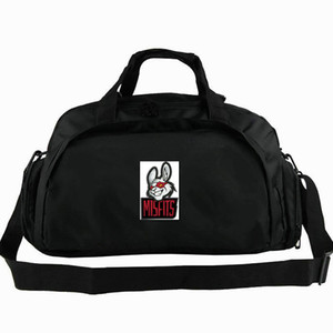 Wholesale Misfits duffel bag Game player group tote Emblem rabbit way use backpack Badge luggage Trip shoulder duffle Sport sling pack