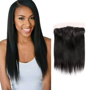 Indian Virgin Hair 13X4 Lace Frontal With Baby Hair 13X4 Frontal Closure Straight Human Hair Closure Free Part Natural Color