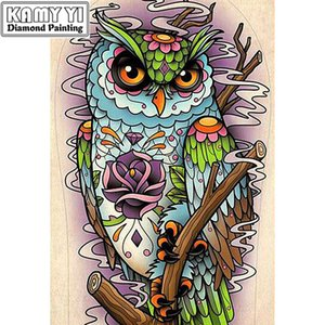 Wholesale 5d rhinestone resale online - Full Drill Square Diamond D DIY Diamond Painting quot Cute owl quot Diamond Embroidery Cross Stitch Rhinestone Mosaic Painting
